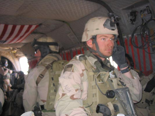 Faas prepares to go on a mission during his first deployment to Afghanistan.